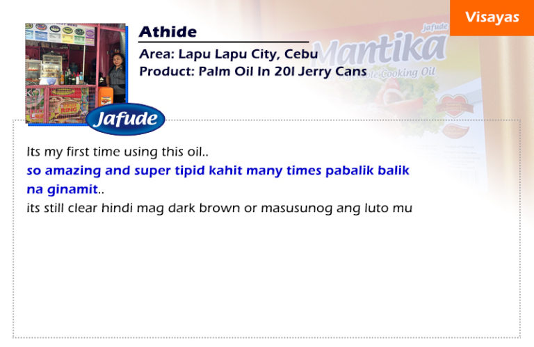 jafude mantika palm cooking oil in Philippines