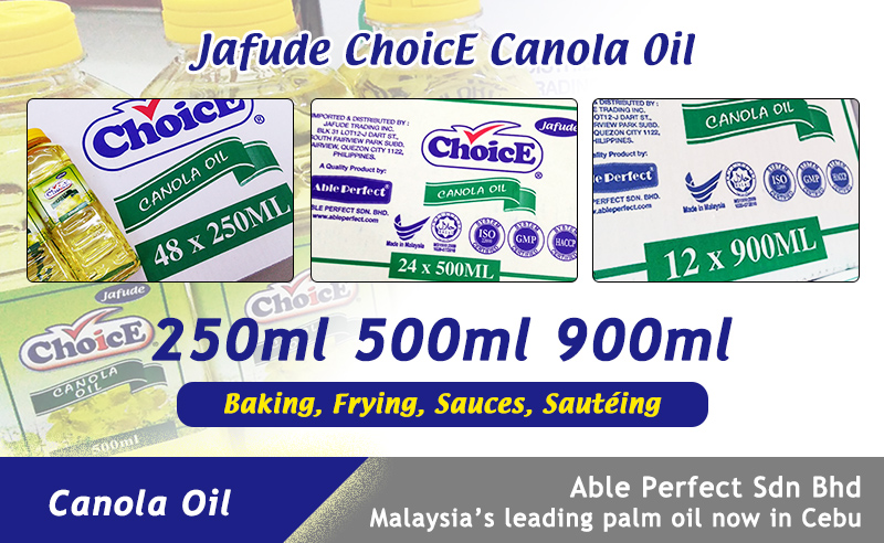 Philippines Pet Bottle Canola Oil Supplier in Cebu-Jafude Mantika